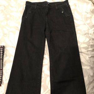 Gap sz29 black wide leg denim trousers